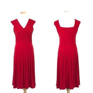 Adrianna Papell Red Cocktail Dress Size 8